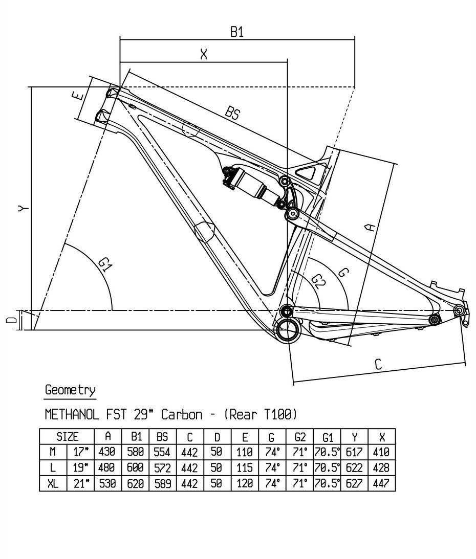 Bianchi Methanol 29.3 FS геометрия