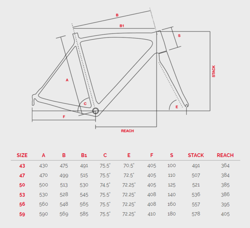 Bottecchia 8Avio Evo геометрия