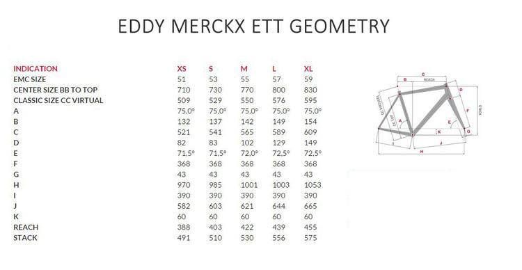 Eddy-Merckx-ETT-Time-Trial-Triathlon геометрия